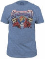 Grateful Dead 1965-2015 fitted jersey tee mens heather blue pre-order