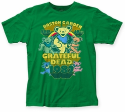 Grateful Dead Boston Garden fitted jersey tee kelly green mens pre-order