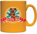 Grateful Dead Orange Dancing Bear 11 oz coffee mug