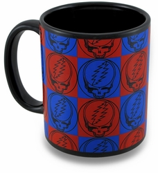 Grateful Dead Steal Your Face 11 oz Checkered Coffee Mug