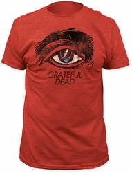 Grateful Dead t-shirt Grateful Eye Soft Fitted 30/1 mens heather red pre-order