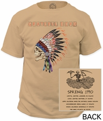 Grateful Dead t-shirt spring 1990 garment dyed mens putty pre-order