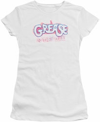 Grease juniors t-shirt Grease Is The Word white
