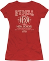 Grease juniors t-shirt Rydell High red