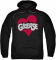 Grease pull-over hoodie Heart adult black
