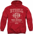 Grease pull-over hoodie Rydell High adult red