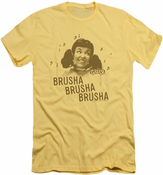 Grease slim-fit t-shirt Brusha Brusha Brusha mens banana