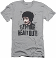 Grease slim-fit t-shirt Eat Your Heart Out mens silver