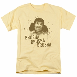 Grease t-shirt Brusha Brusha Brusha mens banana