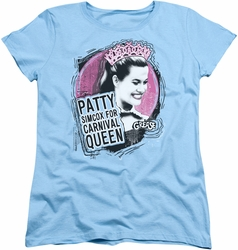 Grease womens t-shirt Carnival Queen light blue
