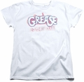 Grease womens t-shirt Grease Is The Word white