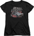 Grease womens t-shirt Greased Lightening black