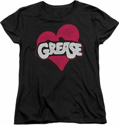 Grease womens t-shirt Heart black