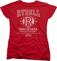 Grease womens t-shirt Rydell High red