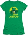 Green Arrow juniors t-shirt Archer Circle kelly green