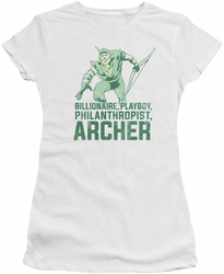 Green Arrow juniors t-shirt Archer white