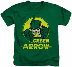 Green Arrow kids t-shirt Archer Circle kelly green