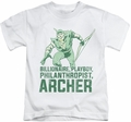 Green Arrow kids t-shirt Archer white
