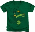 Green Arrow kids t-shirt Close Up kelly green