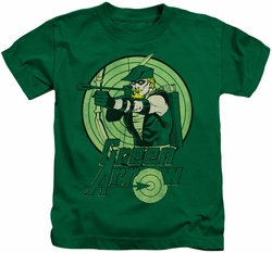 Green Arrow kids t-shirt Portrait in Circle kelly green