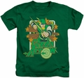 Green Arrow kids t-shirt Stars kelly green