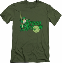 Green Arrow slim-fit t-shirt Green Arrow mens military green