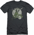 Green Arrow slim-fit t-shirt Right On Target mens charcoal