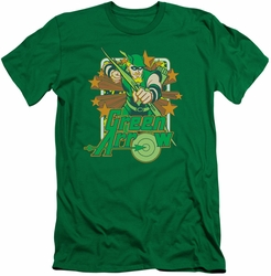 Green Arrow slim-fit t-shirt Stars mens kelly green