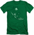 Green Arrow slim-fit t-shirt The Emerald Archer mens kelly green