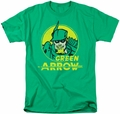 Green Arrow t-shirt Archer Circle mens kelly green