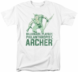Green Arrow t-shirt Archer mens white