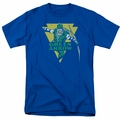 Green Arrow t-shirt Distressed Arrow mens royal blue