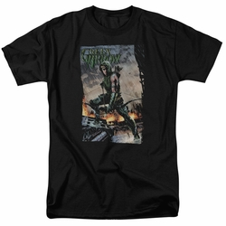 Green Arrow t-shirt Fire And Rain mens black