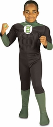 Green Lantern childs deluxe muscle chest costume