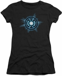 Green Lantern juniors t-shirt Blue Glow black