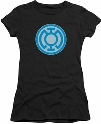 Green Lantern juniors t-shirt Blue Symbol black