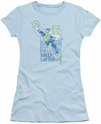 Green Lantern juniors t-shirt City Watch light blue