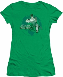 Green Lantern juniors t-shirt Easy Being Green kelly green