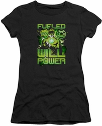 Green Lantern juniors t-shirt Fueled black