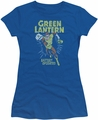 Green Lantern juniors t-shirt Fully Charged royal blue