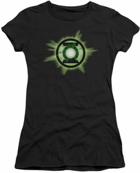 Green Lantern juniors t-shirt Green Glow black
