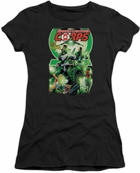 Green Lantern juniors t-shirt Green Lantern Corps #25 Cover black