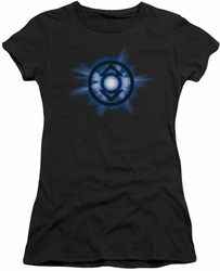 Green Lantern juniors t-shirt Indigo Glow black