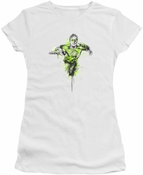 Green Lantern juniors t-shirt Inked white
