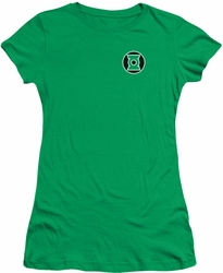 Green Lantern juniors t-shirt Kyle Rayner Logo kelly green