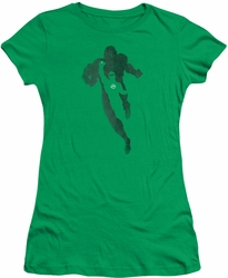 Green Lantern juniors t-shirt Lantern Knockout kelly green