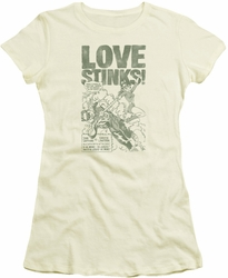Green Lantern juniors t-shirt Love Stinks cream