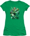 Green Lantern juniors t-shirt Power Of The Rings kelly green