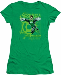 Green Lantern juniors t-shirt Sector 2814 kelly green