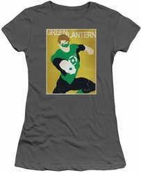 Green Lantern juniors t-shirt Simple Poster charcoal